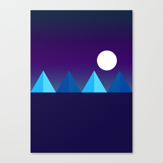 Pyramids in Moonlight Canvas Print