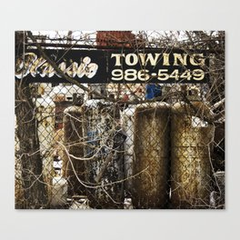 Towing Canvas Print