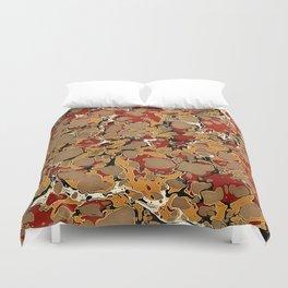 Old Marbled Paper 04 Duvet Cover