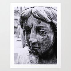 Angelic face Art Print