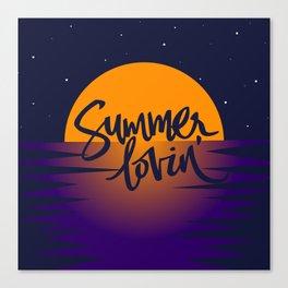 Orange Sunset (Summer Lovin') Canvas Print