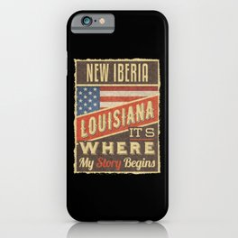 New Iberia Louisiana iPhone Case