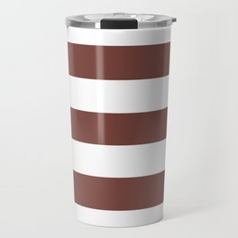 Bole - solid color - white stripes pattern Travel Mug