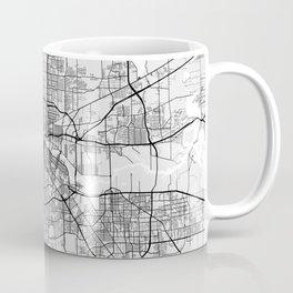 Houston City Map of Texas, USA - Light Coffee Mug