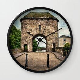 The Bridge At Monmouth Wall Clock