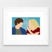 """almost famous Framed Art Prints featuring Almost Famous """"You Are Home"""" by DeanFred Rex"""