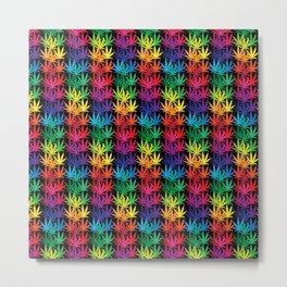 Cannabis Rainbow Metal Print