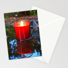 Candle reflected Stationery Cards