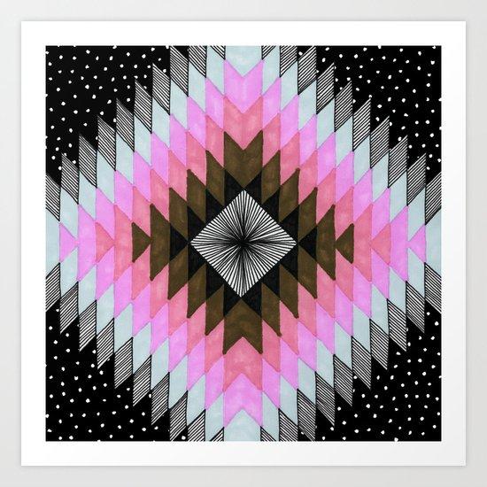 Cosmic Eye - Fire Opal Art Print