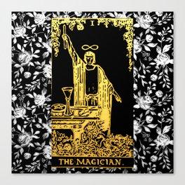 A Floral Tarot Print - The Magician Canvas Print