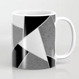 Gray Black White Geometric Glam #1 #geo #decor #art #society6 Coffee Mug