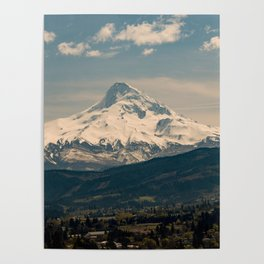 Mountain Valley Pacific Northwest - Nature Photography Poster