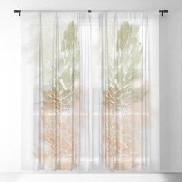 Pineapple vibes Sheer Curtain