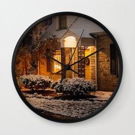 A Christmas Snow Wall Clock