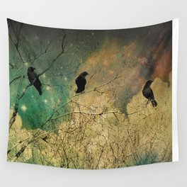 Retro Clouds Wall Tapestry