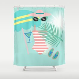 Palm Springs Ready Shower Curtain