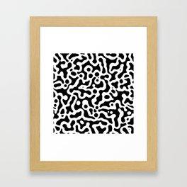 Liquid spot camouflage pattern_01 Framed Art Print