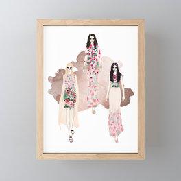 Fashionary - Rose Gold Framed Mini Art Print