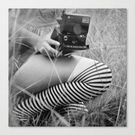 Polaroid Girl Canvas Print
