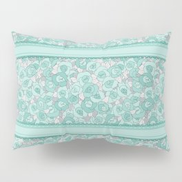 Retro Roses with lace Pillow Sham