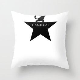 Hamilcat The Musical Funny Parody Hamilton Throw Pillow