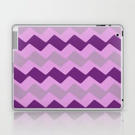 Purple Zig Zag Pattern Laptop & iPad Skin