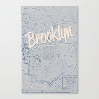 brooklyn Canvas Prints featuring Brooklyn by Dweezle