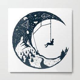 Climber's Sky | Rock Climbing Metal Print