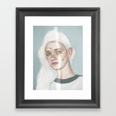 Why is she covered in golden foil? I certainly have no idea Framed Art Print