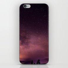 purple night sky iPhone & iPod Skin