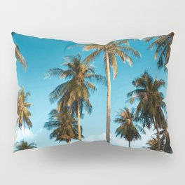 Malaysian coconut palm trees at the beach Pillow Sham
