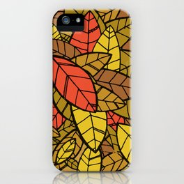 Autumn Memories (a pile of leaves) iPhone Case