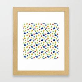 Building Blocks Pattern Framed Art Print