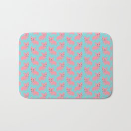 Pink Frenchie - What's Up? Bath Mat