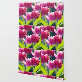 Tulip Bouquet Spring Atmosphere #decor #society6 #buyart Wallpaper