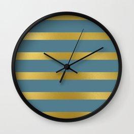 Baesic Gold & Blue Texture Shine Wall Clock