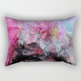 STORMY BLACK vs PINK-1 Rectangular Pillow