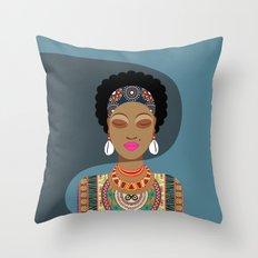 African Queen II Throw Pillow