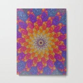 Rainbow Fractal Mandala Metal Print