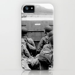 Approaching Omaha Beach - Invasion of Normandy - June 6, 1944 iPhone Case