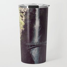 Multnomah Falls Waterfall - Nature Photography Travel Mug