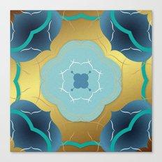 Vintage Tiles: Yellow Canvas Print