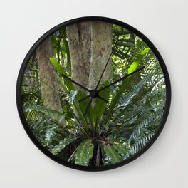 Bird's Nest in the Jungle Wall Clock