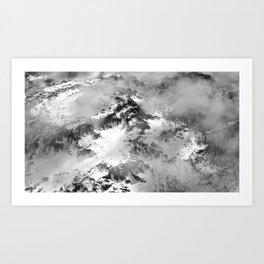 Blacktop Mountain Landscape Art Print