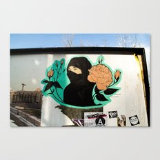 Islamic Flower Street Art Canvas Print