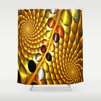 fractal Shower Curtains featuring Fractal by Digital-Art