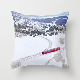 One winter day Throw Pillow