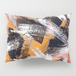 Abs orange black and white Pillow Sham