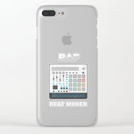 Rap Beat Maker Pop Music Vocal Performer Hip Hop Rapping Gift Clear iPhone Case