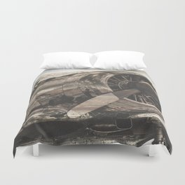 Old airplane 1 Duvet Cover